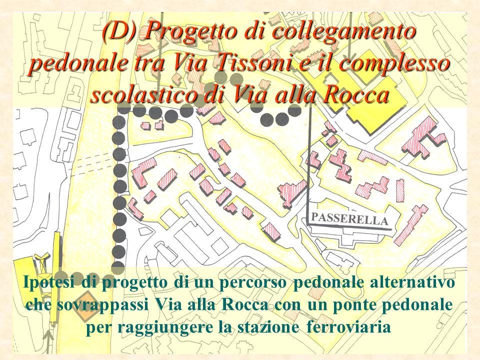 (D) Progetto di collegamento pedonale tra Via Tissoni e il complesso scolastico di Via alla Rocca