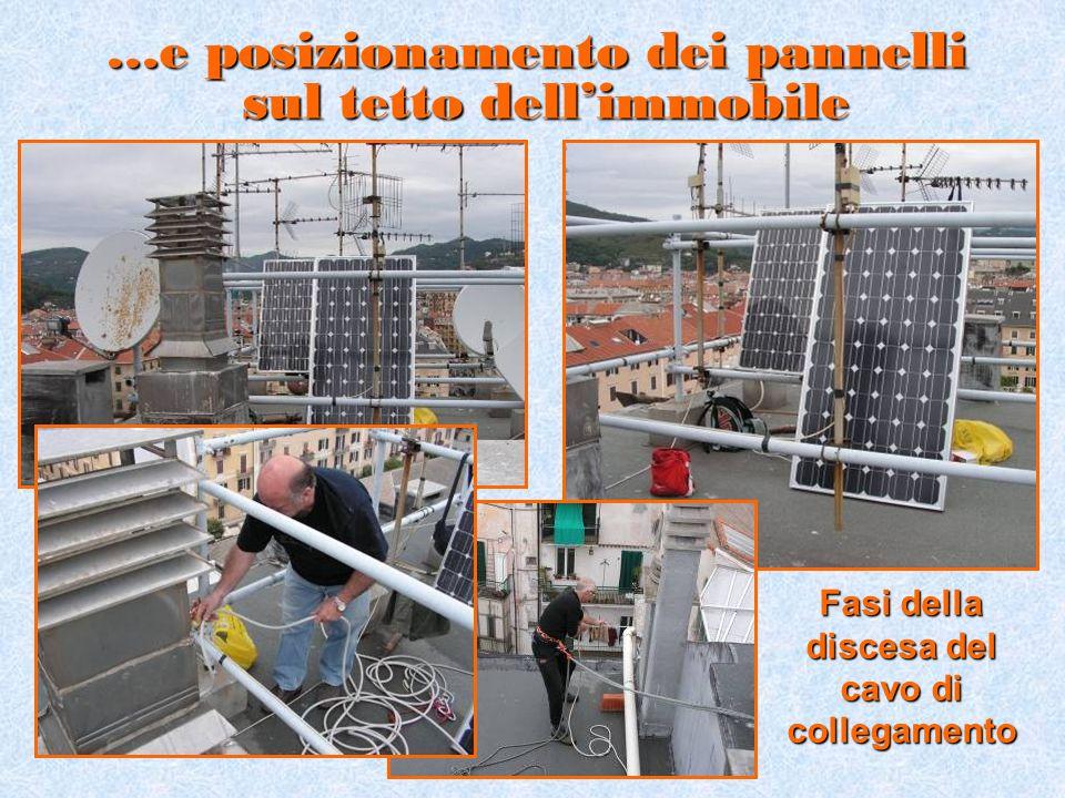 …e posizionamento dei pannelli sul tetto dell'immobile
