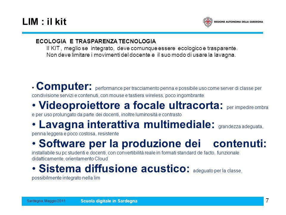 LIM : il kit ECOLOGIA E TRASPARENZA TECNOLOGIA.