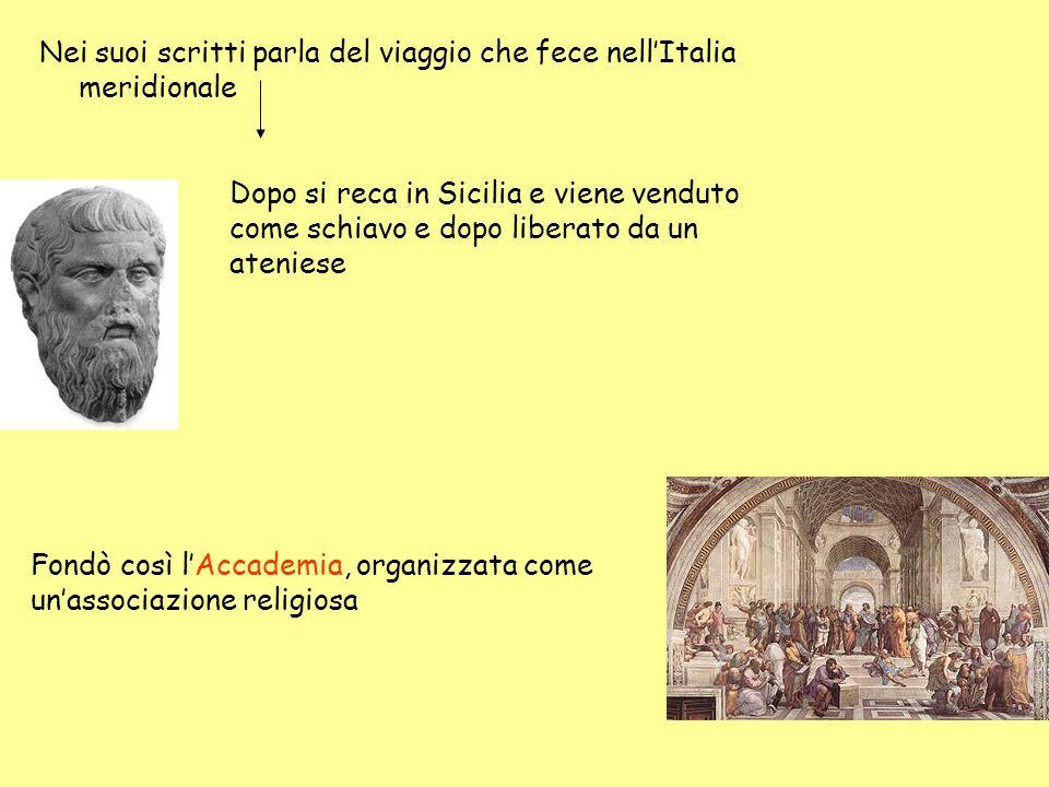 Nei suoi scritti parla del viaggio che fece nell'Italia meridionale
