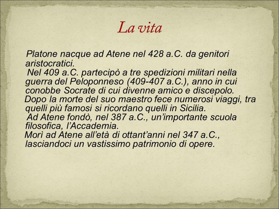 Platone nacque ad Atene nel 428 a.C. da genitori aristocratici.