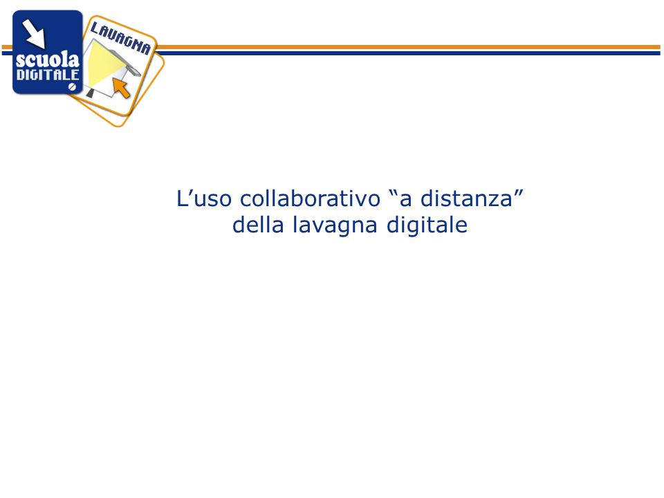 L'uso collaborativo a distanza della lavagna digitale