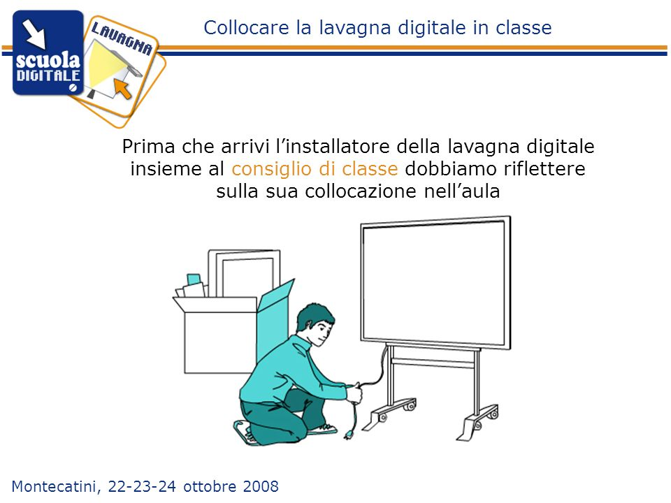 Collocare la lavagna digitale in classe