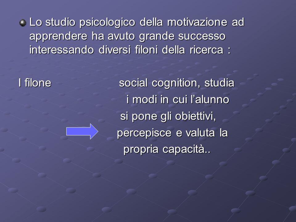 Lo studio psicologico della motivazione ad apprendere ha avuto grande successo interessando diversi filoni della ricerca :