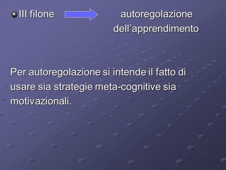 III filone autoregolazione