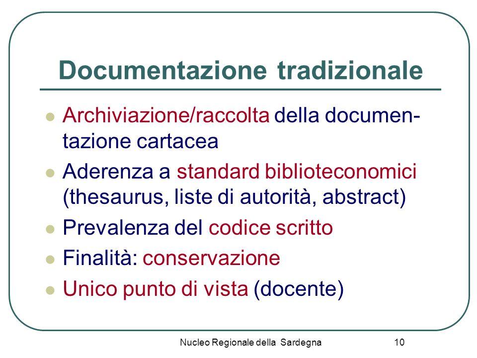 Documentazione tradizionale