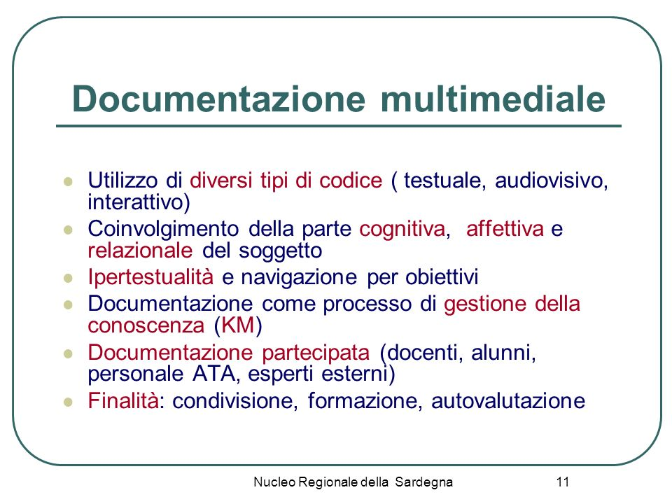Documentazione multimediale
