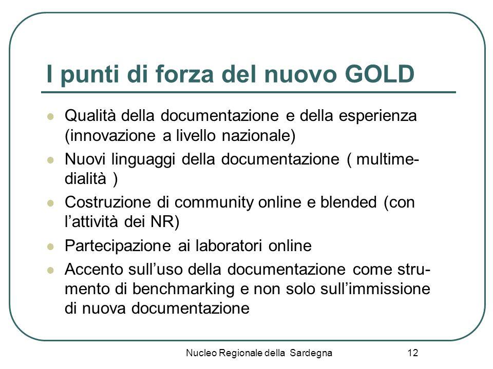 I punti di forza del nuovo GOLD