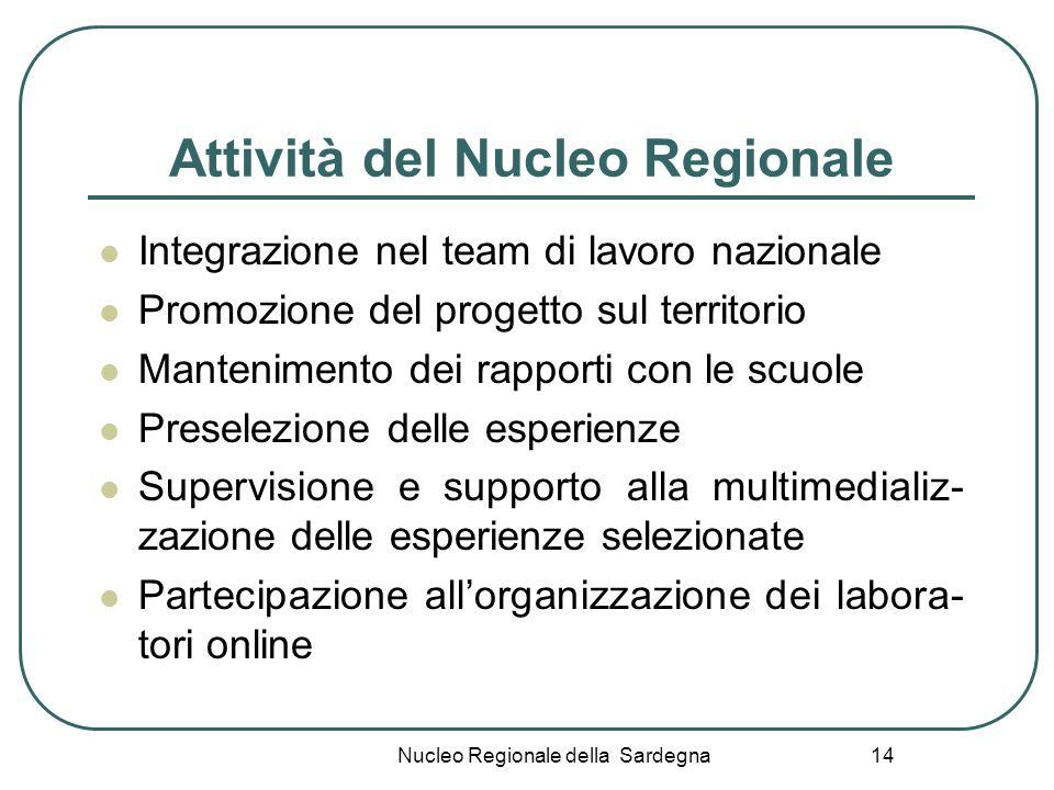 Attività del Nucleo Regionale
