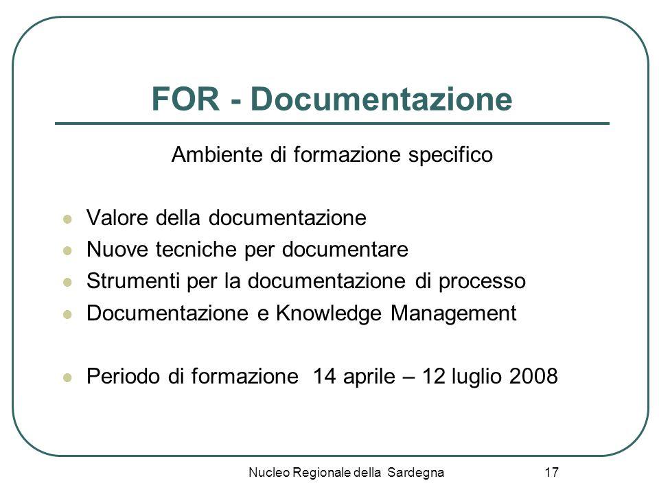 FOR - Documentazione Ambiente di formazione specifico