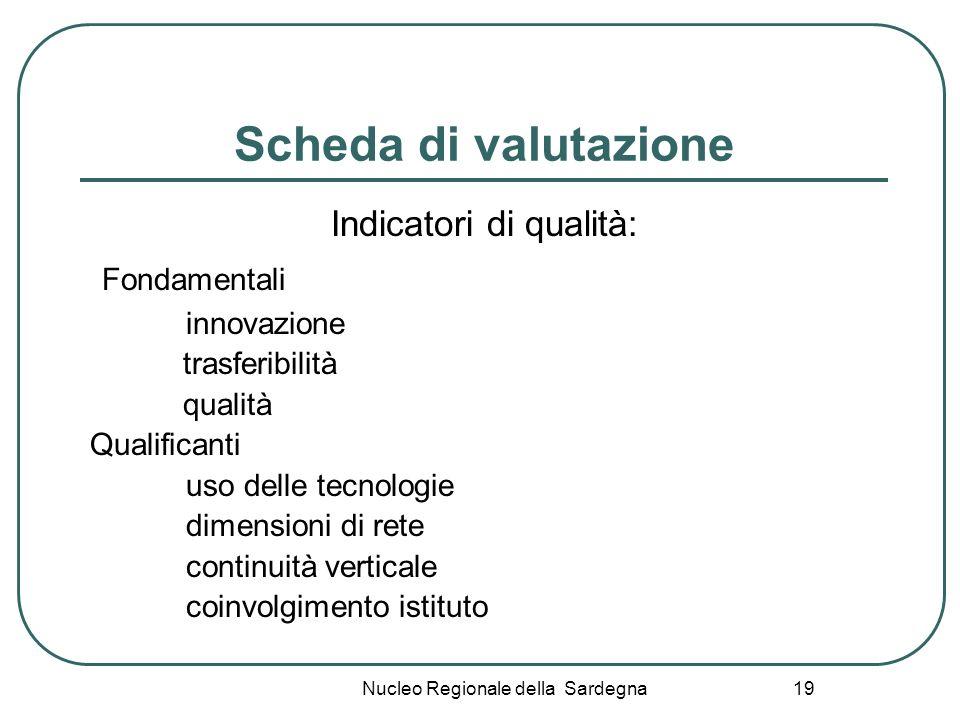 Scheda di valutazione Fondamentali Indicatori di qualità: innovazione