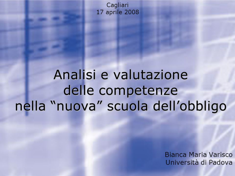 Bianca Maria Varisco Università di Padova