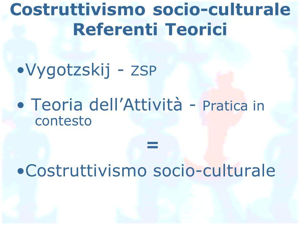 Costruttivismo socio-culturale Referenti Teorici