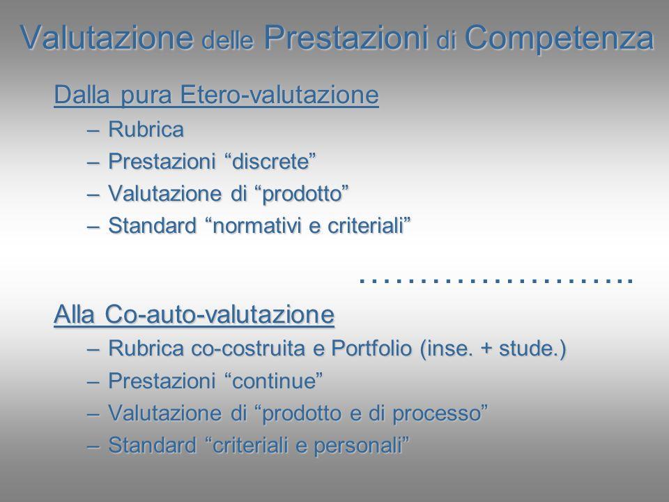Valutazione delle Prestazioni di Competenza