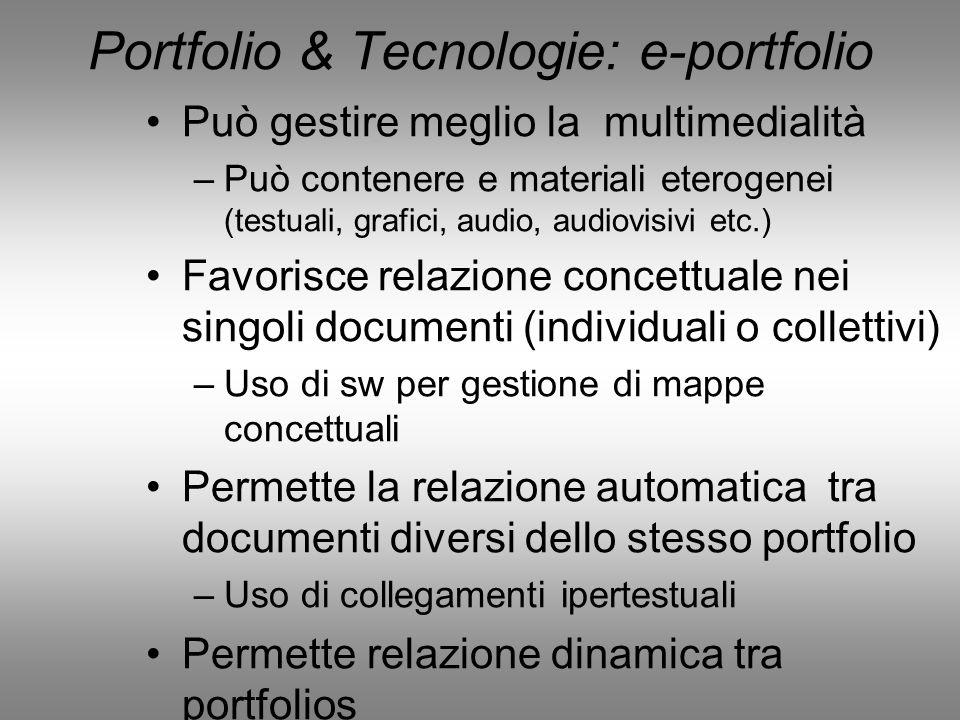 Portfolio & Tecnologie: e-portfolio