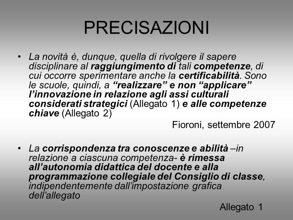 PRECISAZIONI