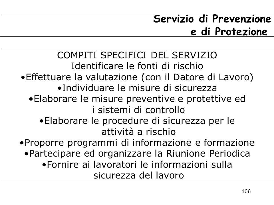 Servizio di Prevenzione e di Protezione