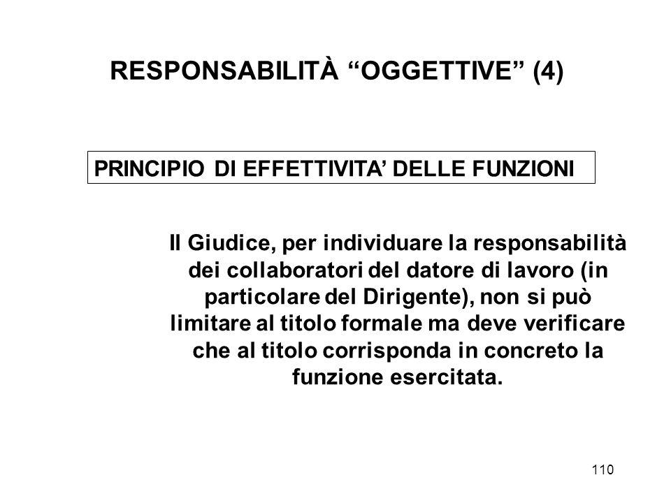 RESPONSABILITÀ OGGETTIVE (4)