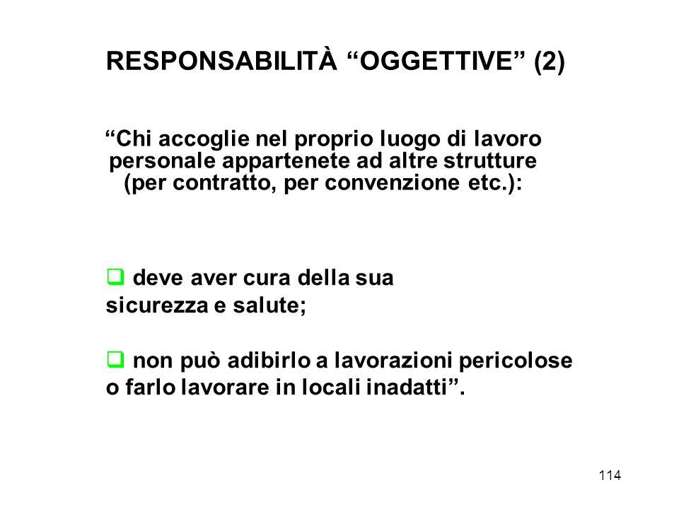 RESPONSABILITÀ OGGETTIVE (2)