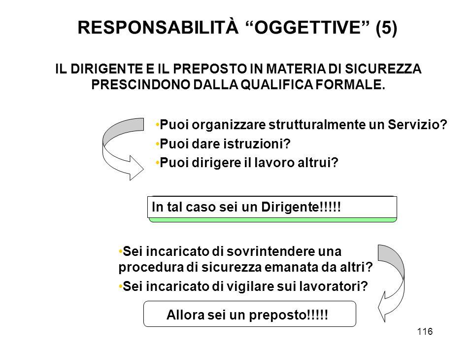 RESPONSABILITÀ OGGETTIVE (5)