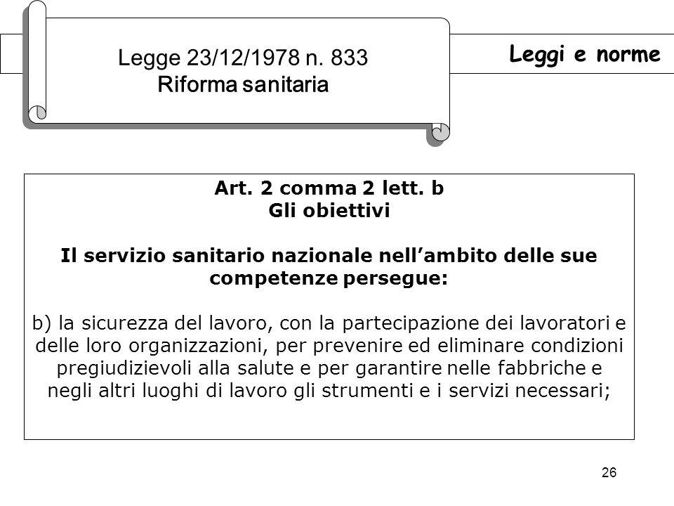 Legge 23/12/1978 n. 833 Riforma sanitaria Leggi e norme