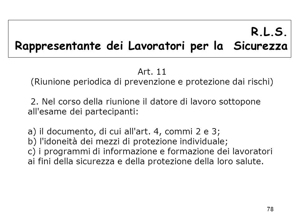 (Riunione periodica di prevenzione e protezione dai rischi)