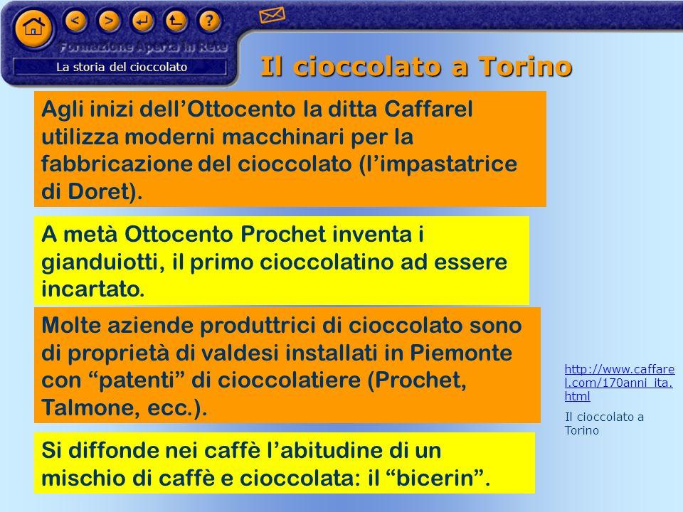 Il cioccolato a Torino
