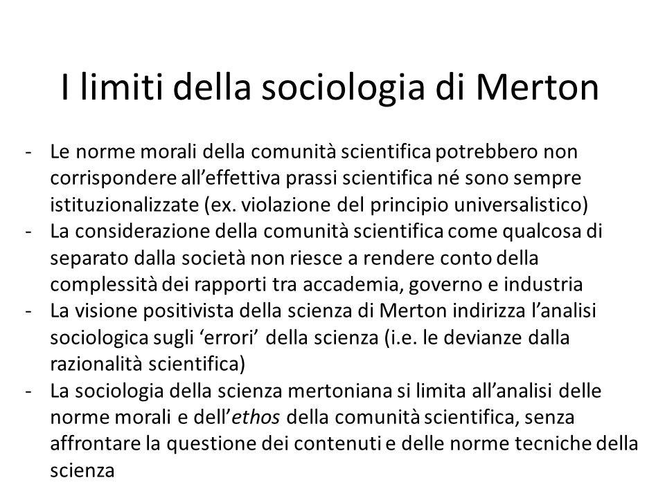 I limiti della sociologia di Merton
