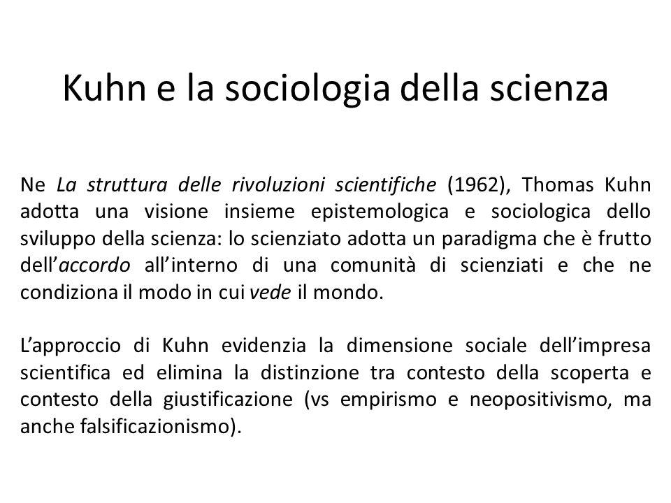 Kuhn e la sociologia della scienza