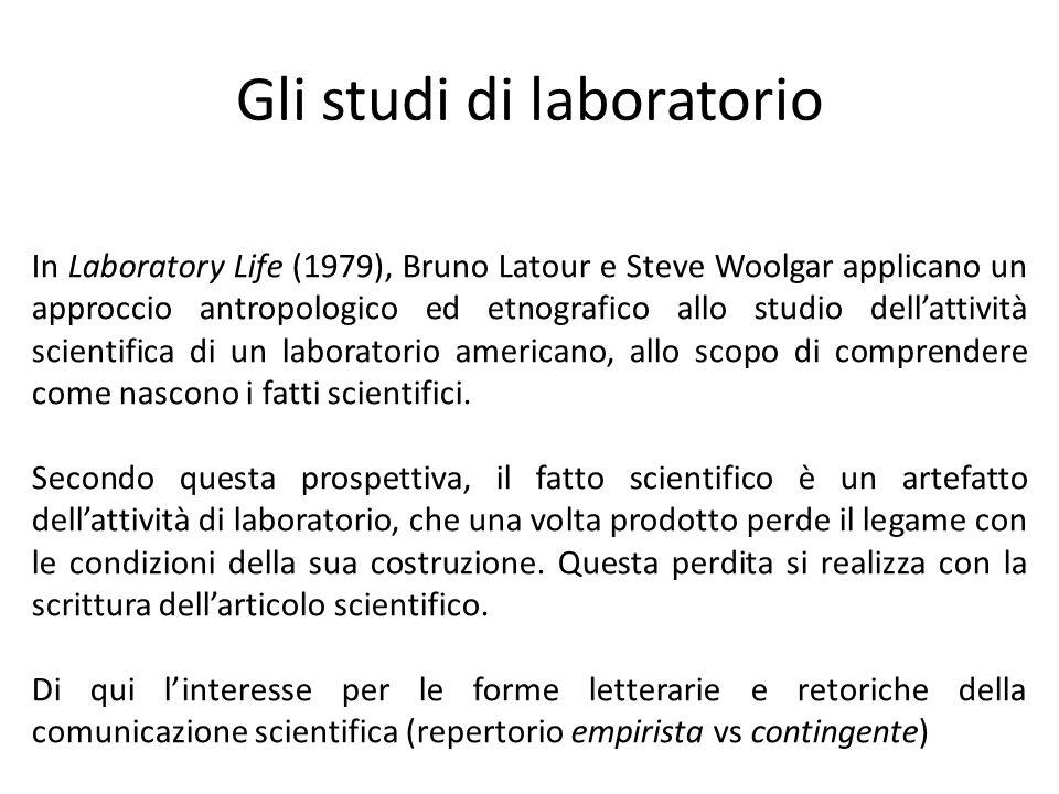 Gli studi di laboratorio
