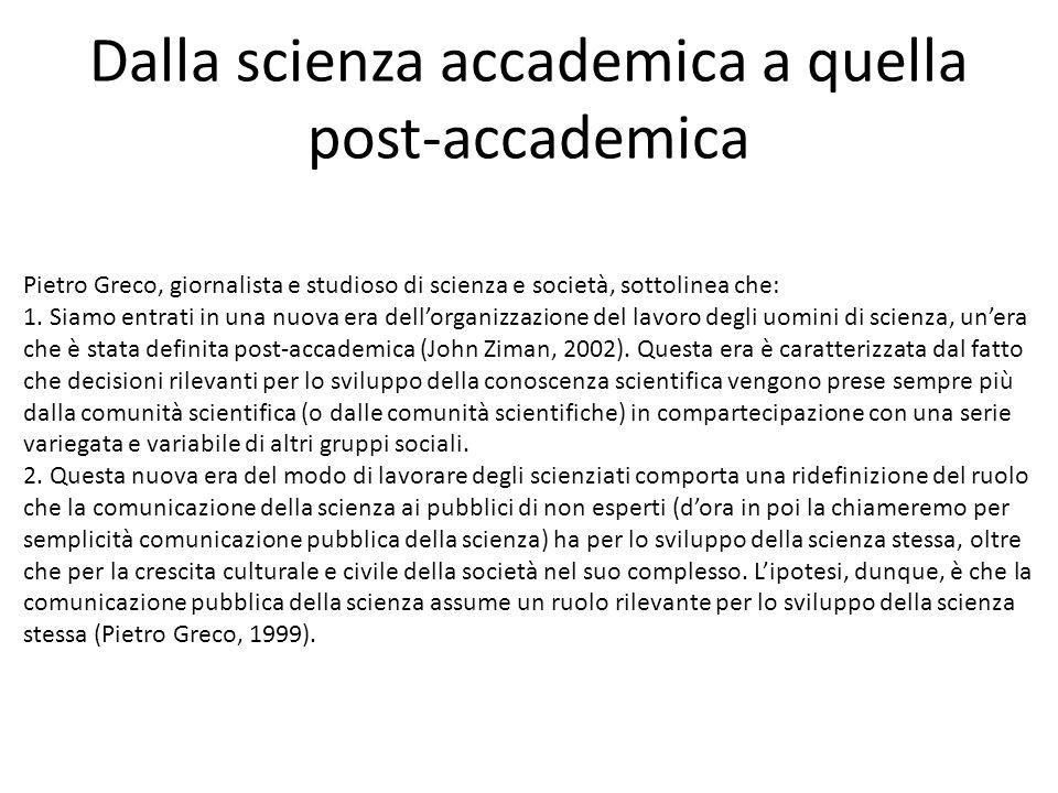 Dalla scienza accademica a quella post-accademica