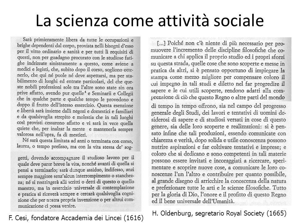 La scienza come attività sociale