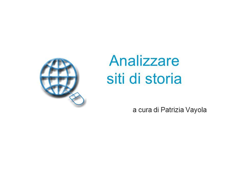 Analizzare siti di storia
