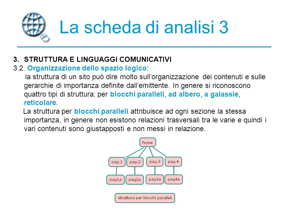 La scheda di analisi 3 3. STRUTTURA E LINGUAGGI COMUNICATIVI