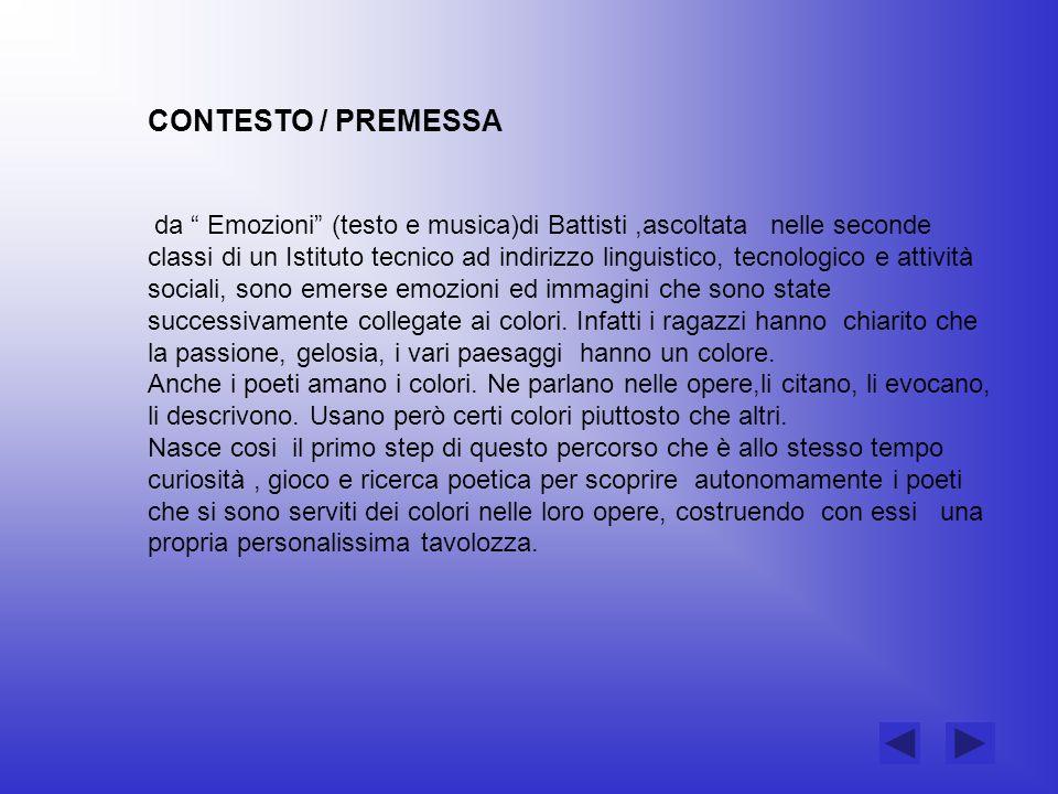 CONTESTO / PREMESSA