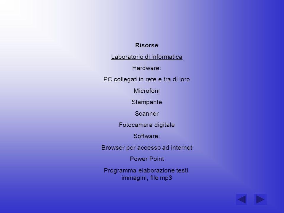 Laboratorio di informatica Hardware:
