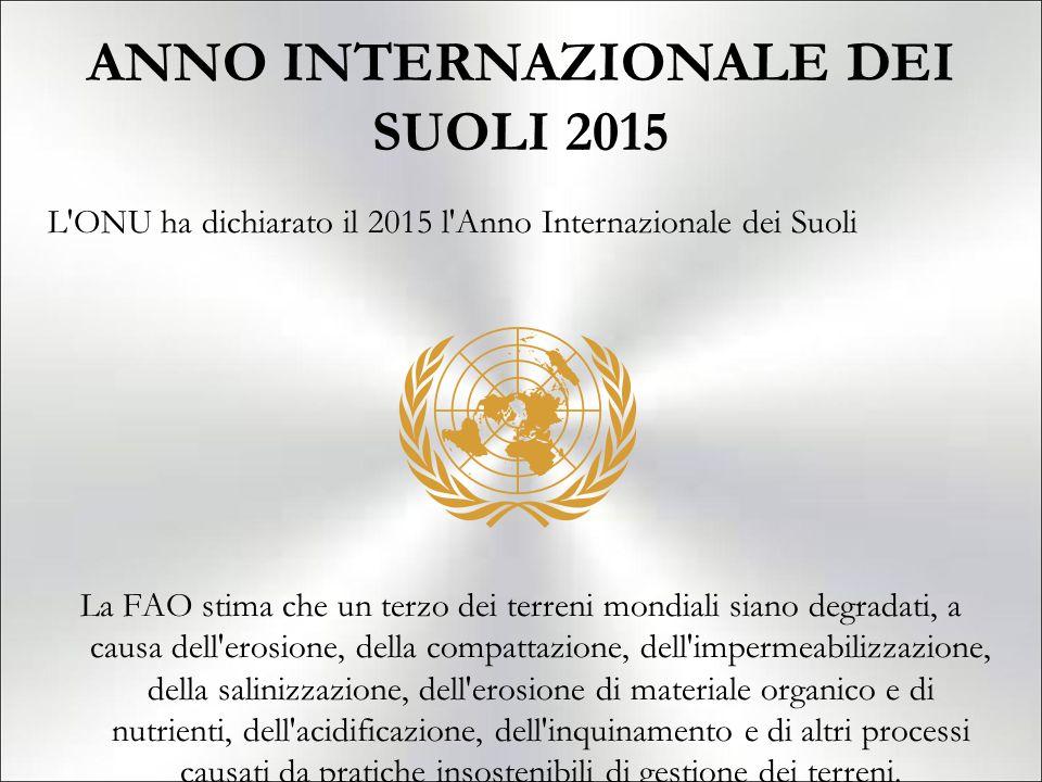ANNO INTERNAZIONALE DEI SUOLI 2015