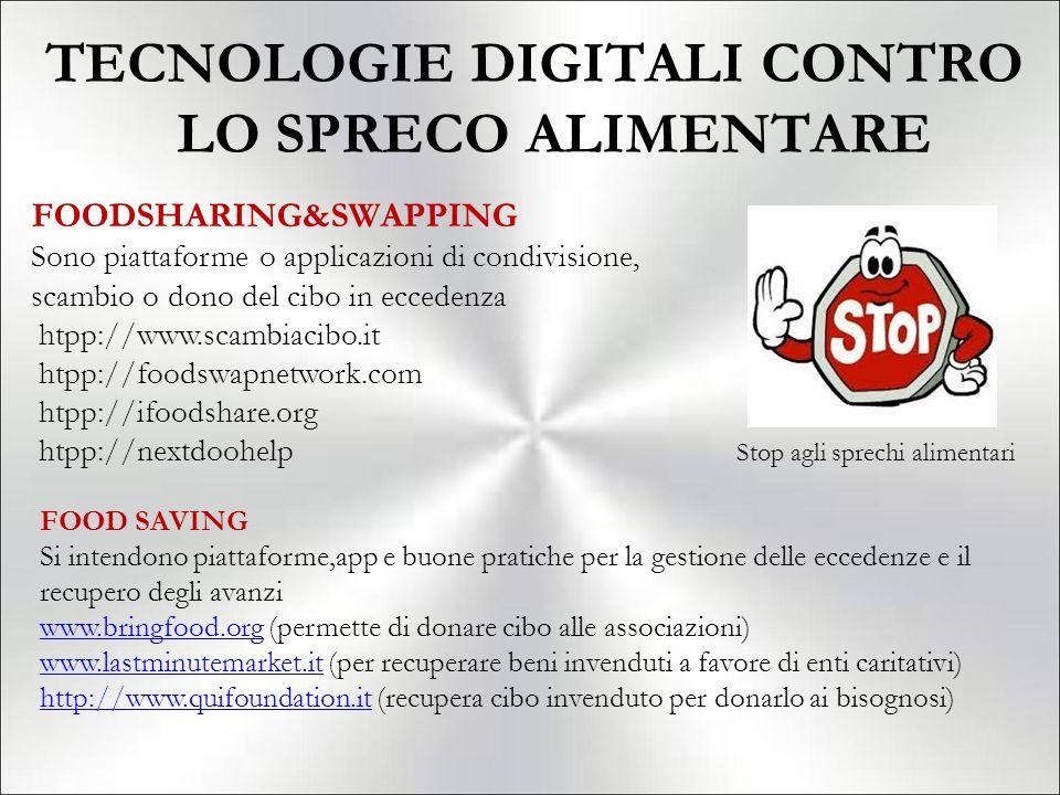 TECNOLOGIE DIGITALI CONTRO LO SPRECO ALIMENTARE