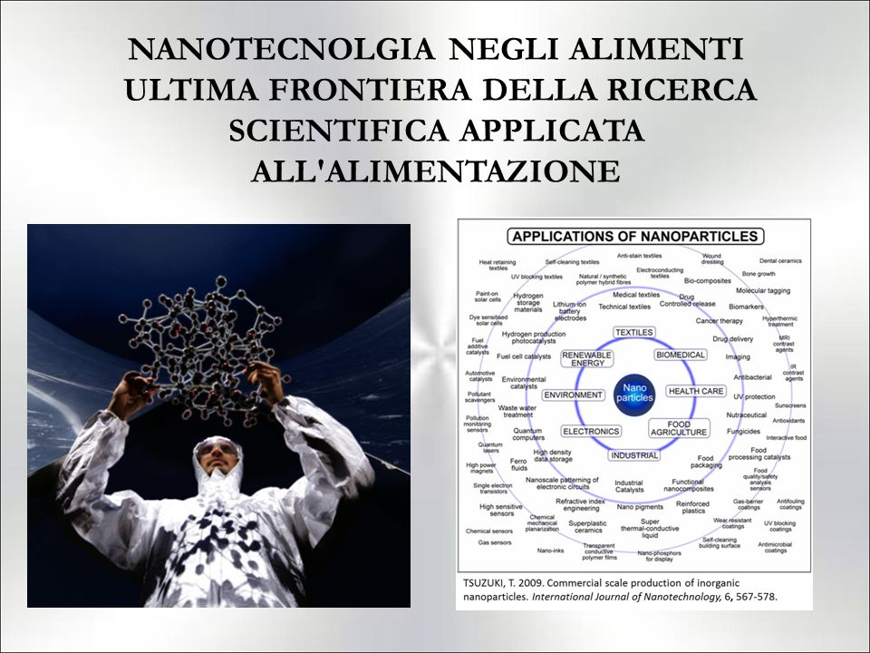 NANOTECNOLGIA NEGLI ALIMENTI ULTIMA FRONTIERA DELLA RICERCA SCIENTIFICA APPLICATA ALL ALIMENTAZIONE