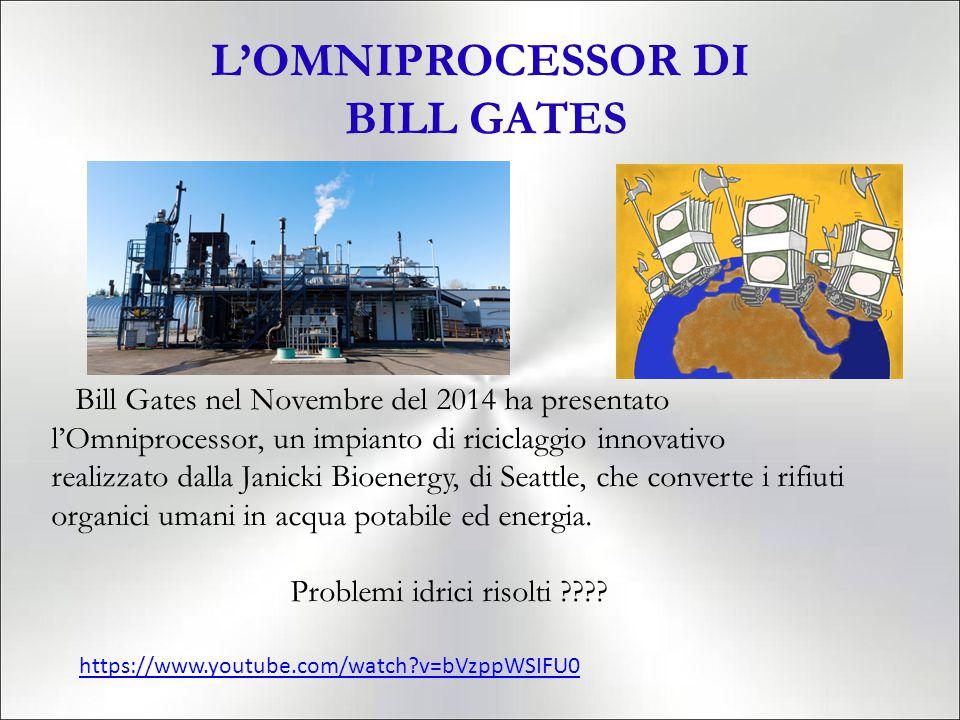 L'OMNIPROCESSOR DI BILL GATES