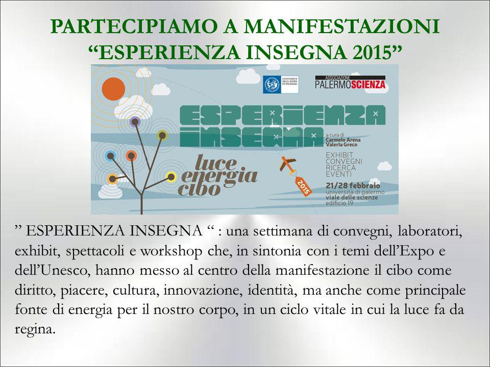PARTECIPIAMO A MANIFESTAZIONI ESPERIENZA INSEGNA 2015