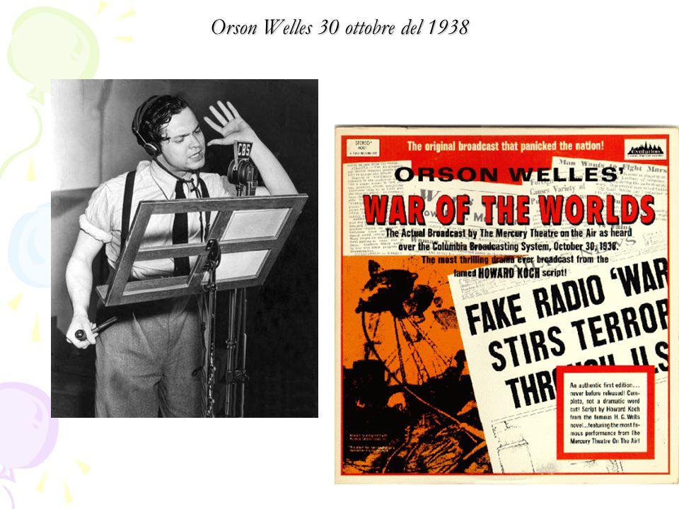 Orson Welles 30 ottobre del 1938