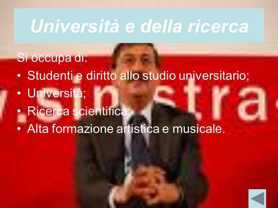Università e della ricerca