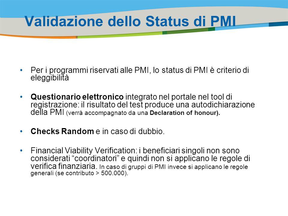 Validazione dello Status di PMI