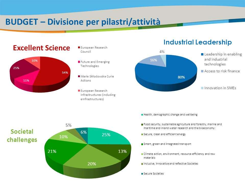 BUDGET – Divisione per pilastri/attività Industrial Leadership