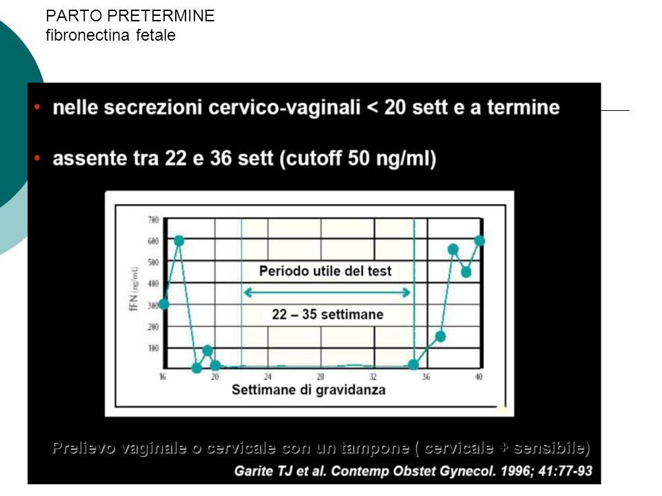PARTO PRETERMINE fibronectina fetale