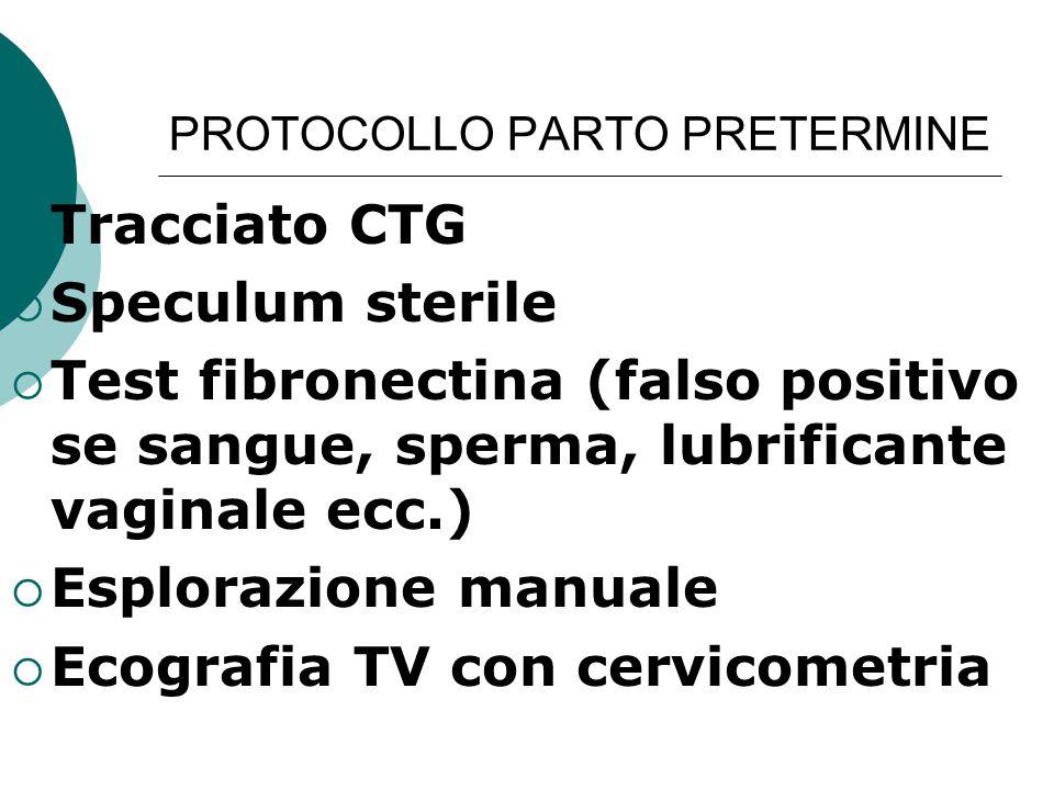 PROTOCOLLO PARTO PRETERMINE