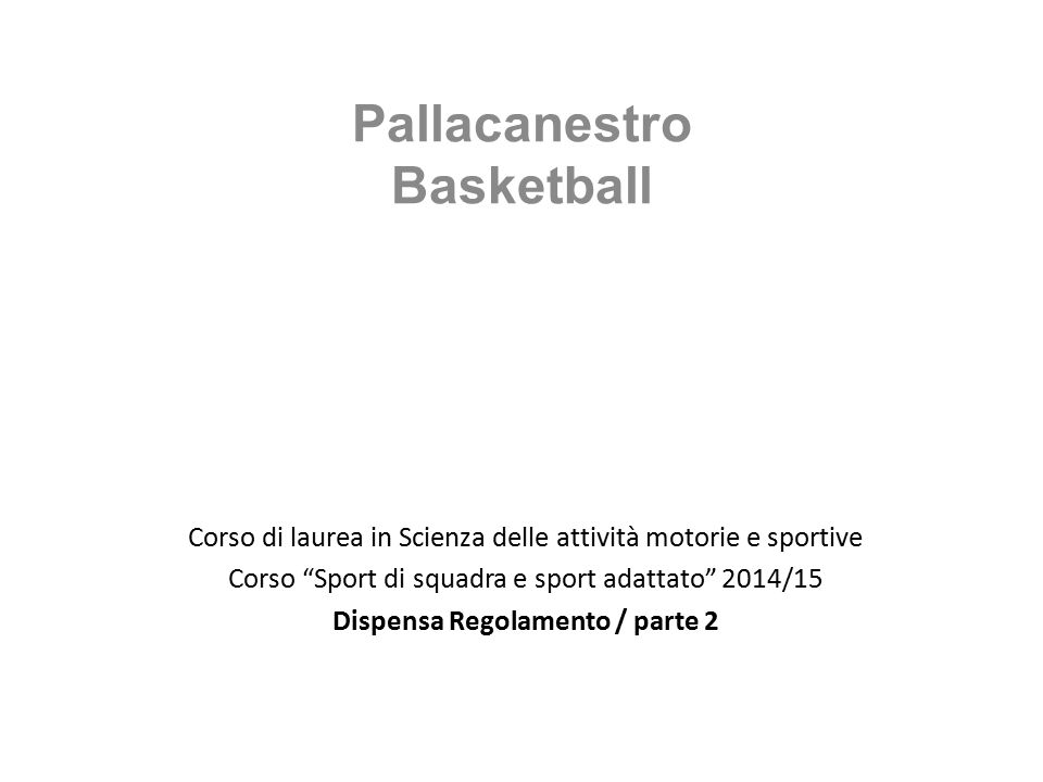 Pallacanestro Basketball