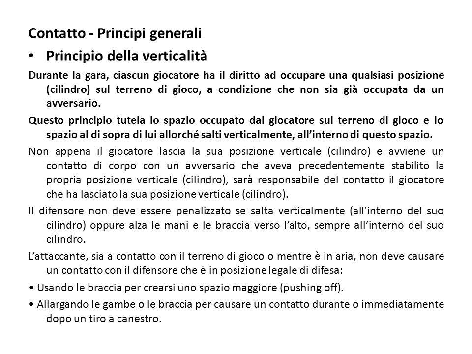 Contatto - Principi generali Principio della verticalità