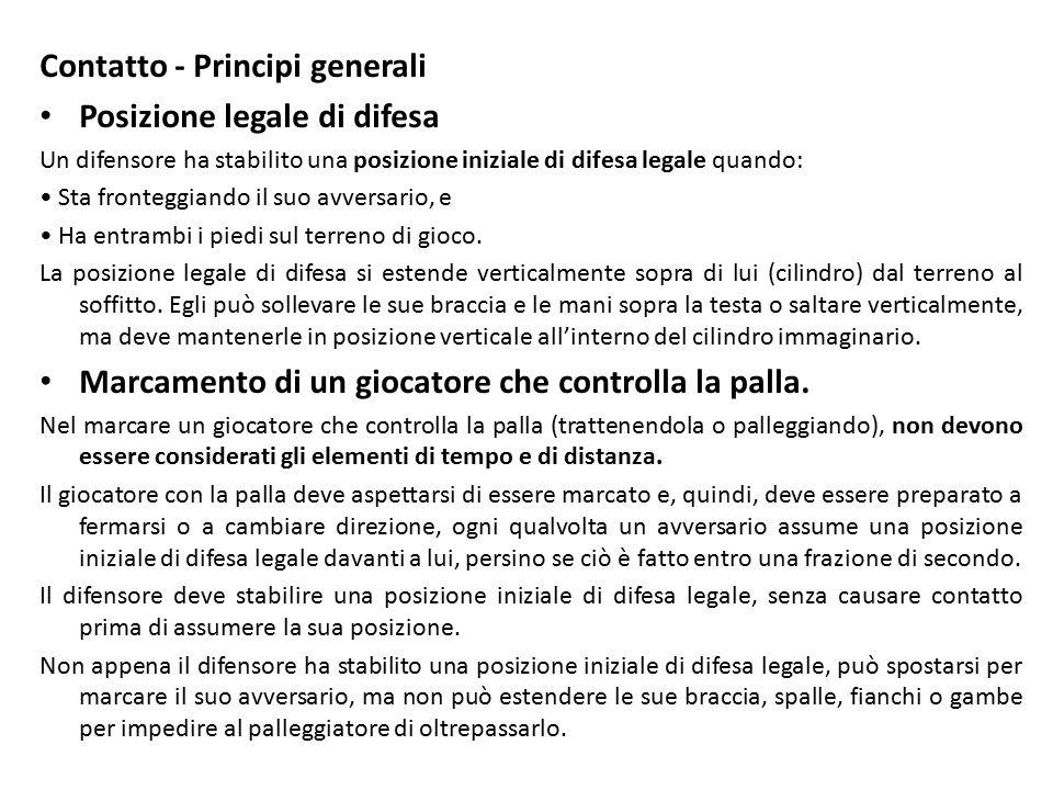 Contatto - Principi generali Posizione legale di difesa